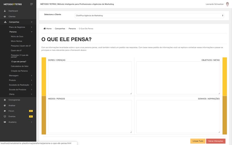 Plataforma on-line do MÉTODO TETRIS | Curso de Marketing Digital para Consultores e Agências